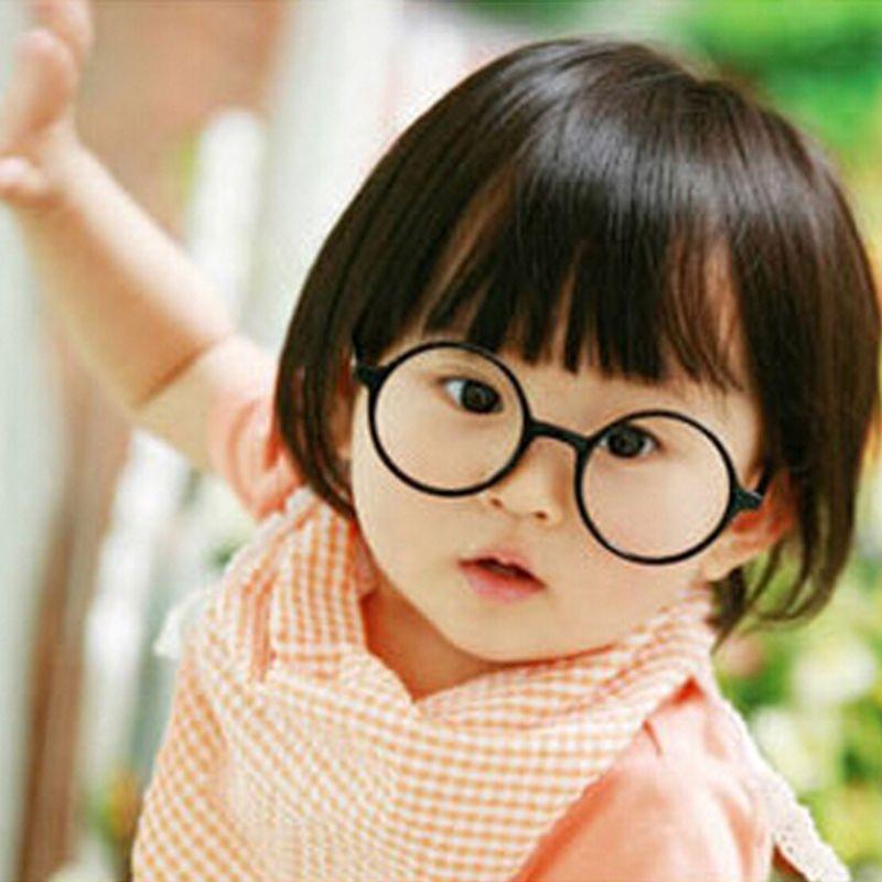 Gọng kính không tròng màu trơn thời trang cho bé