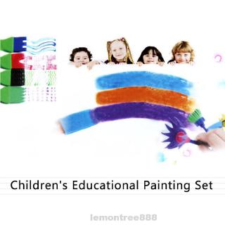 Drawing Set Sponge Brush Early Education Manual Watercolor Children's Imagination Developing Graffiti Interesting