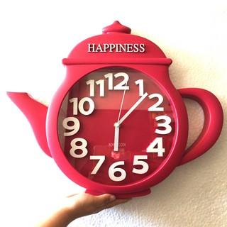 Đồng hồ treo tường hình ấm trà ( đỏ)