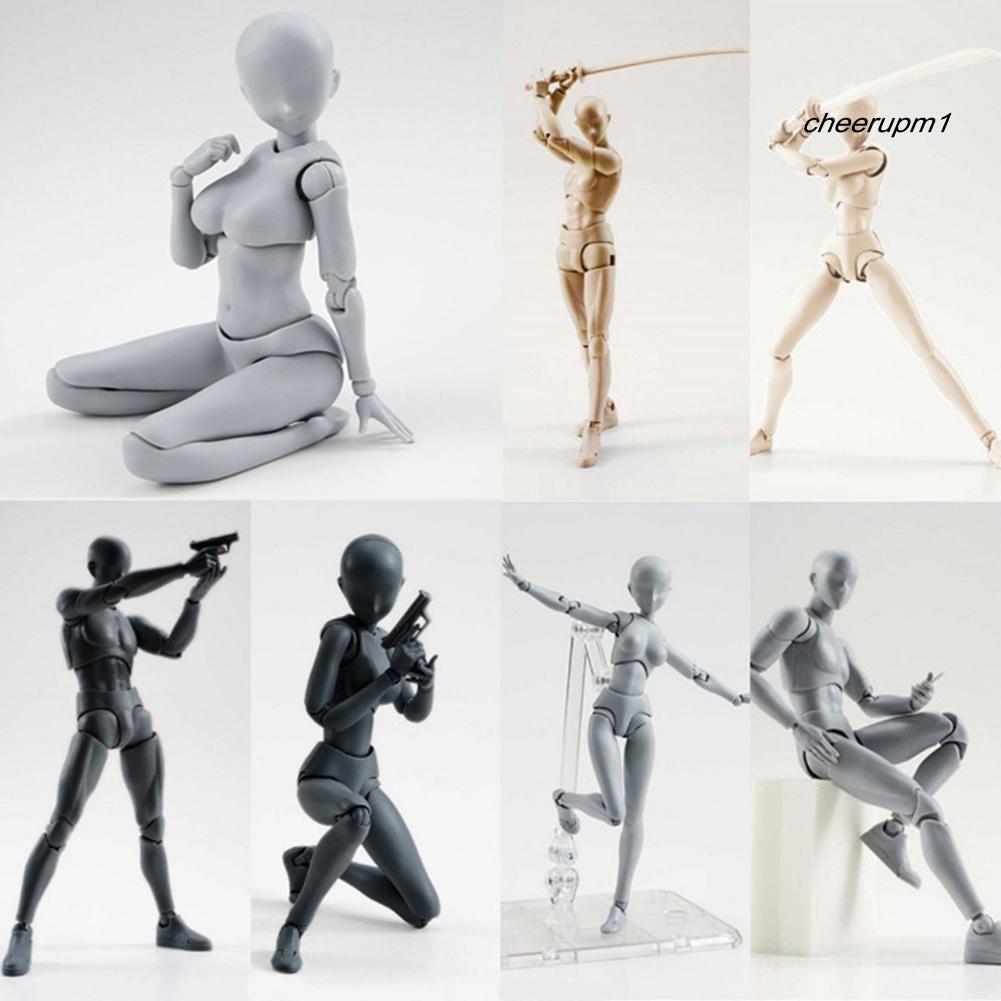 Mô hình cơ thể người nam nữ có thể di chuyển dùng vẽ tranh DIY