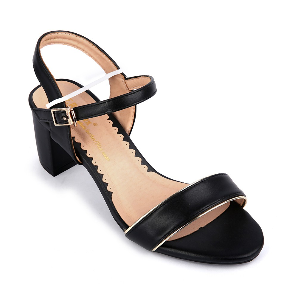 Sandals cao gót HTP053-12 màu đen