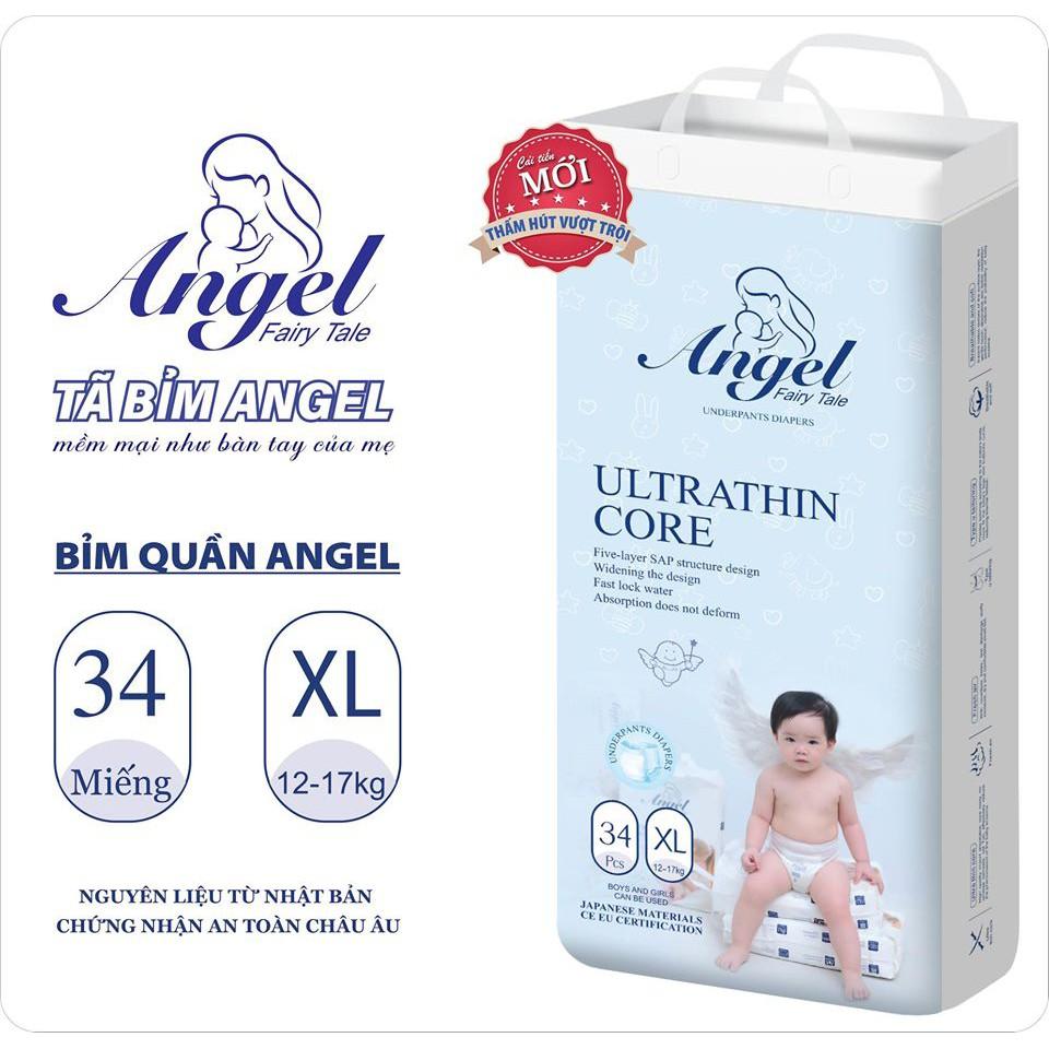 Bỉm Dán/Quần ANGEL XANH BÌNH DÂN Ultra Absorbent đủ size NB62/S58/M54/L50/XL46/M38/L36/XL34/XXL32/XXXL30