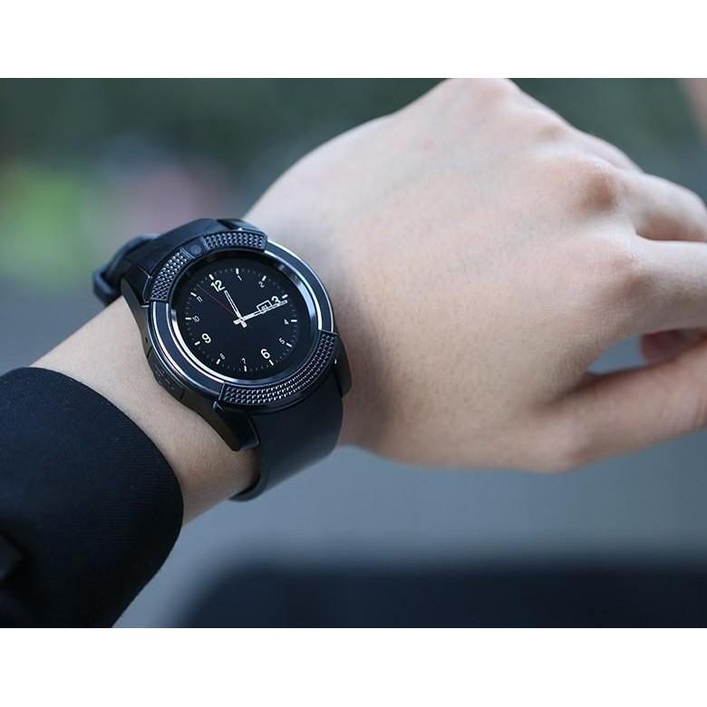 Đồng hồ thông minh mặt tròn nghe gọi, nghe nhạc , chụp hình như điện thoại SV8 giá sốc
