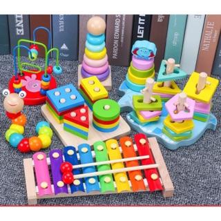 Set đồ chơi 3-6 món cho bé từ 0-3 tuổi