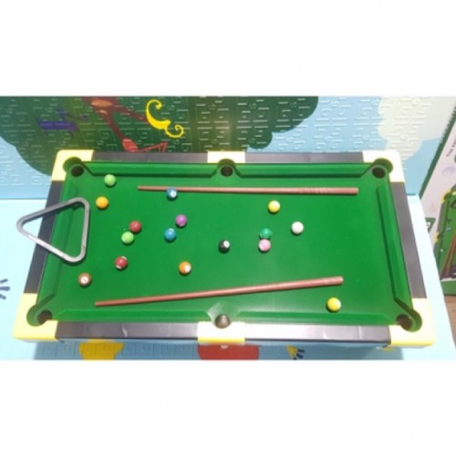 Bộ đồ chơi bàn bida BILLIARDS SNOOKER bọc nỉ kèm bi sứ 48x36x10cm