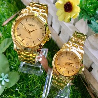 Đồng hồ thời trang nam nữ Rosra dây kim loại H415