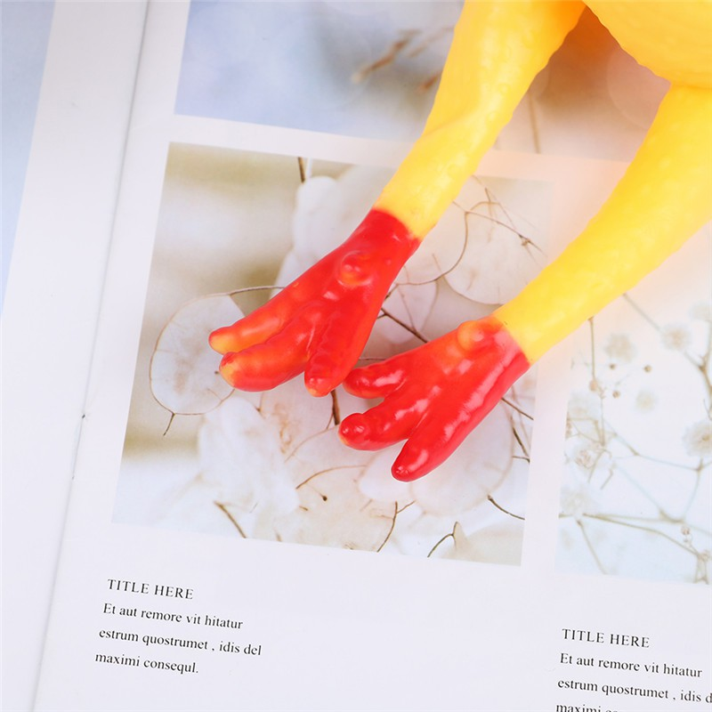 SUN55❤❤1Pc shrilling chicken pet dog screaming squawking fun toy rubber plastic