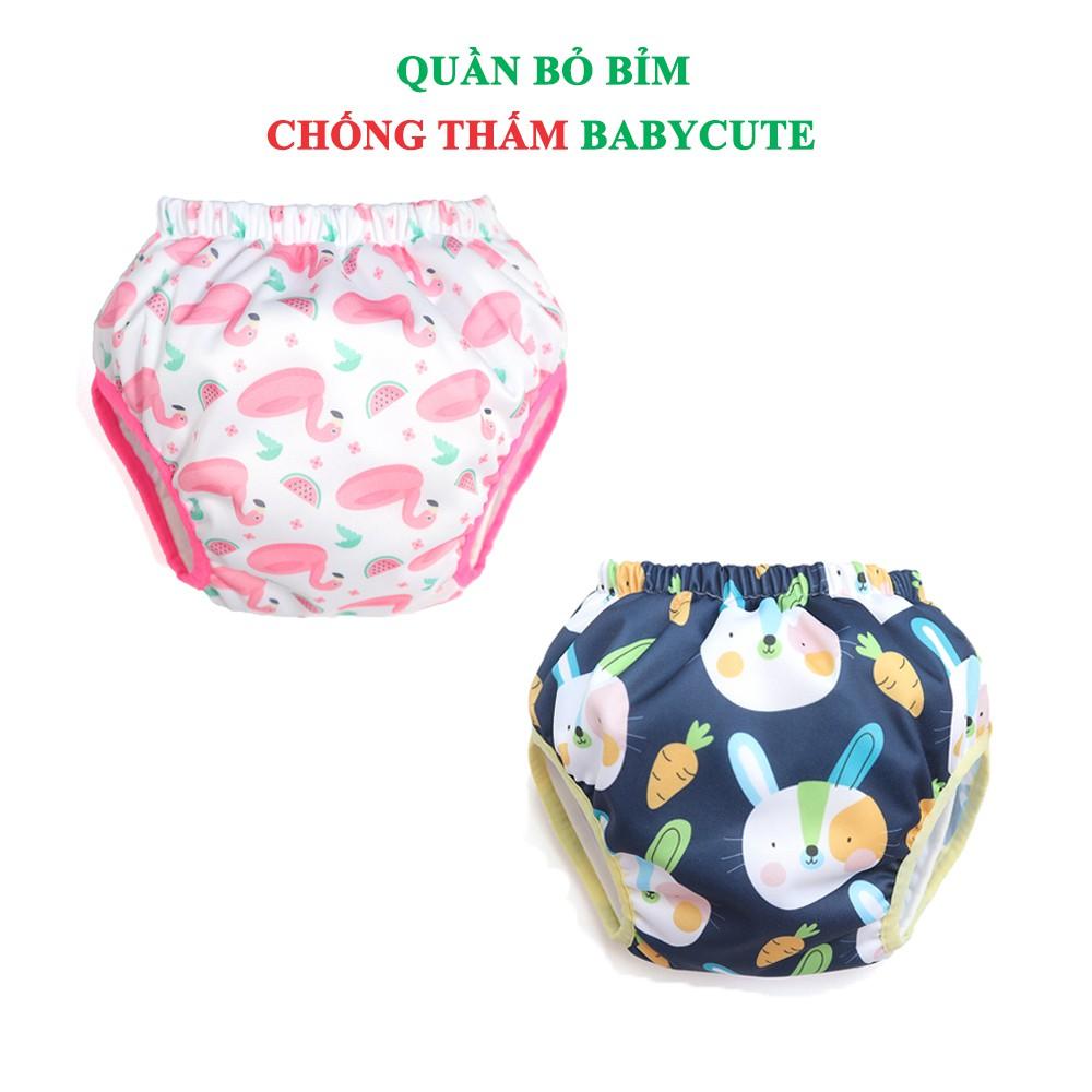 Combo 2 Quần bỏ bỉm chống thấm BabyCute size XL (24-40kg) - Giao mẫu ngẫu