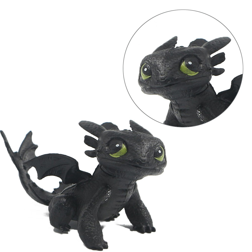 8PCS How to Train Your Dragon Action Figures Set: Toothless Night Fury Nadder