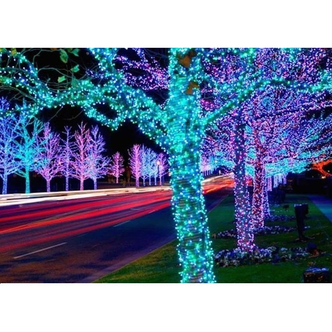 Đèn LED hạt – LED đúc 5V chịu nước (1 bộ 3m)