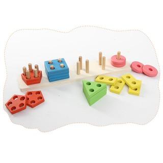 Lồng cọc hình khối giác quan Montessori