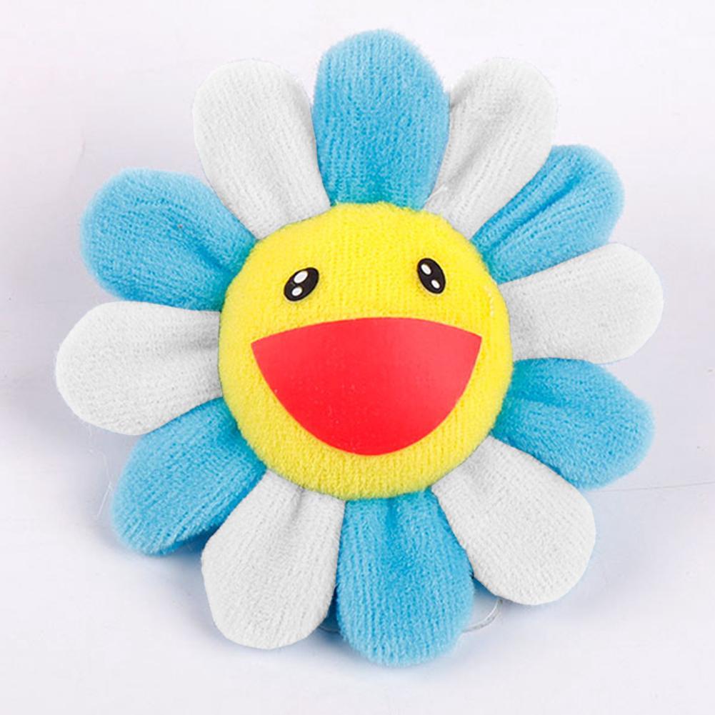 Sun Flower Plush Pendant Cartoon Toys Kids Small Accessories Gift Brooch