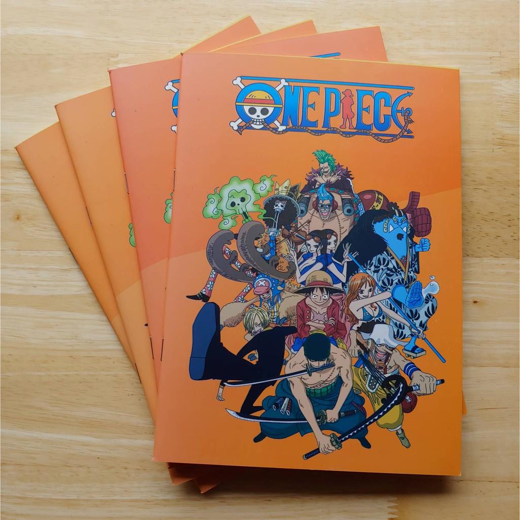 6 Vở kẻ ngang One Piece bìa cam 17x24cm