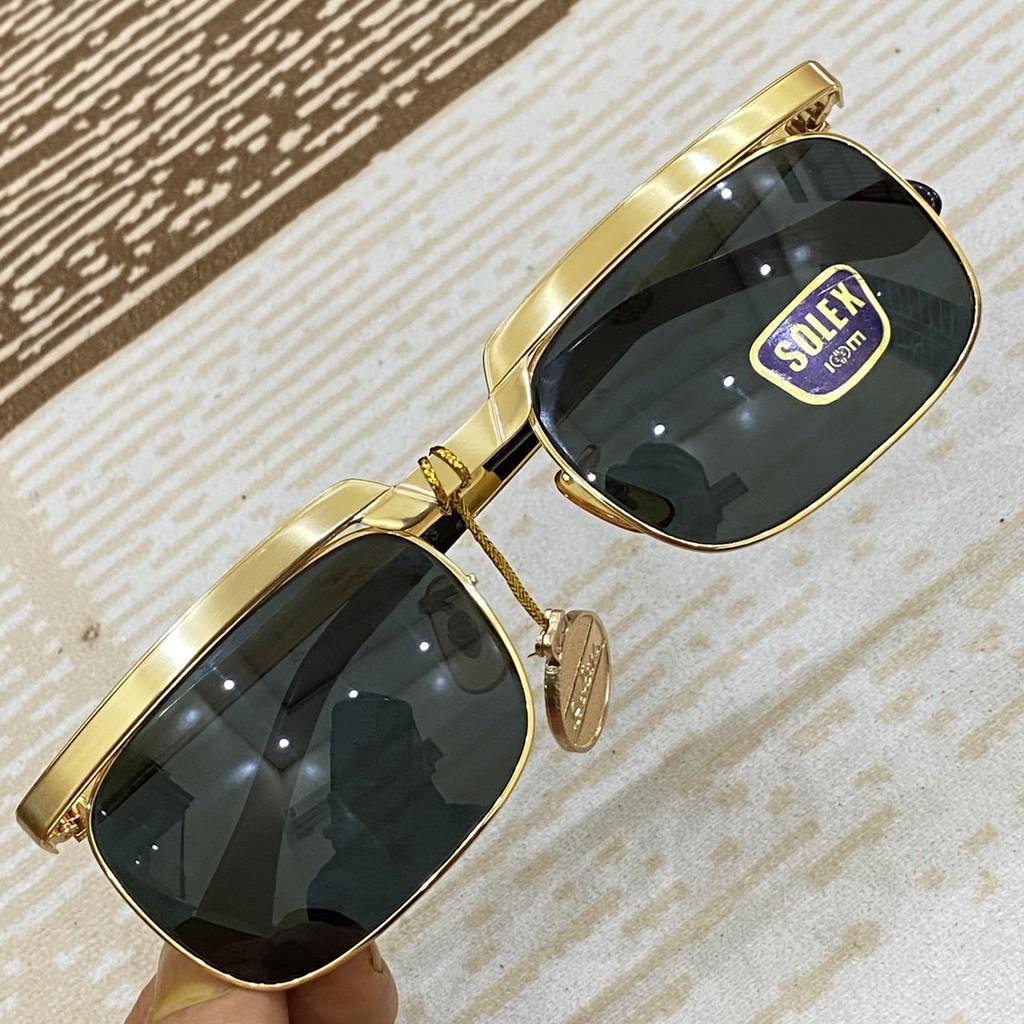 kính solex chữ H mạ vàng 14k dày dặn mắt kính thủy tinh đẳng cấp