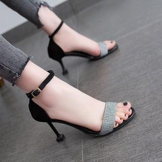 sandals nữ cao gót đế nhọn lên chân cực xinh hàng QC cao cấp loại 6p và loại 9p Hang Quang Chau