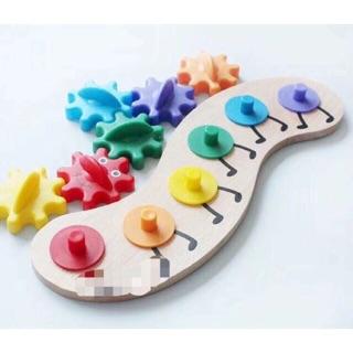 Đồ chơi gỗ, đồ chơi trí tuệ, đồ chơi thông minh chú sâu caterpillar