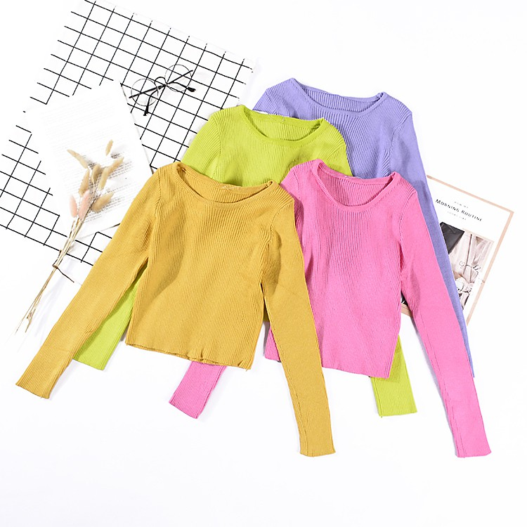 A@9 spring Korean sweater women's bottoming long sleeves versatile slimming clot