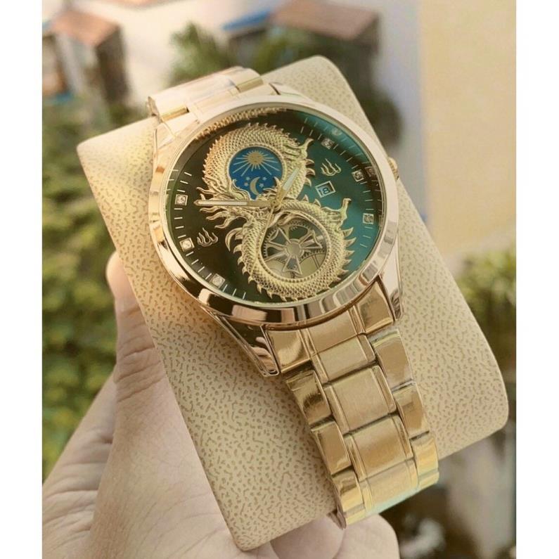 ⏰FREE SHIP⏰ đồng hồ nam rồng dây kim loại phong cách ✔️RẺ VÔ ĐỊCH✔️