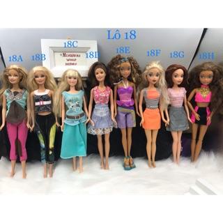 Thanh lí búp bê chính hãng giá sỉ. Búp bê Barbie chính hãng. Búp bê Barbie My Scene. Mã Barbie18