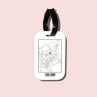 Travel tag cho túi xách balo du lịch in hình Love City Vietnam - Cao Lanh thumbnail