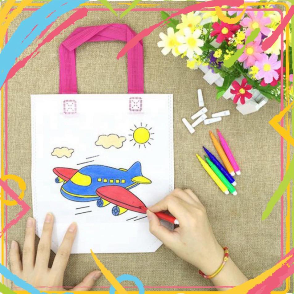 Túi vải vẽ, tô màu – hoạt động nghệ thuật Montessori (1116TVTM)