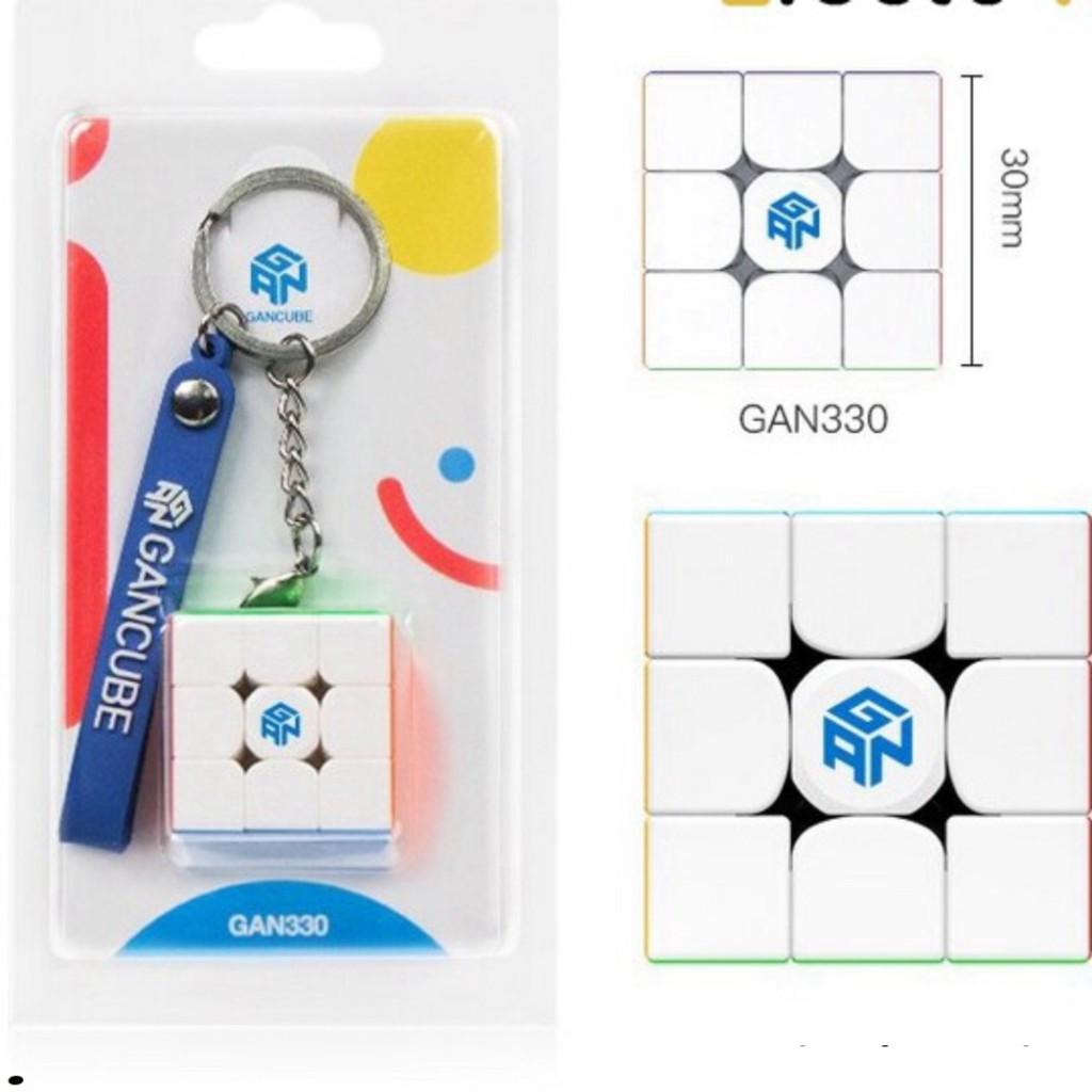 Móc Khóa Rubik Gan330 Rubik Gan 330 Stickerless Rubic 3 Tầng Xoay Mượt