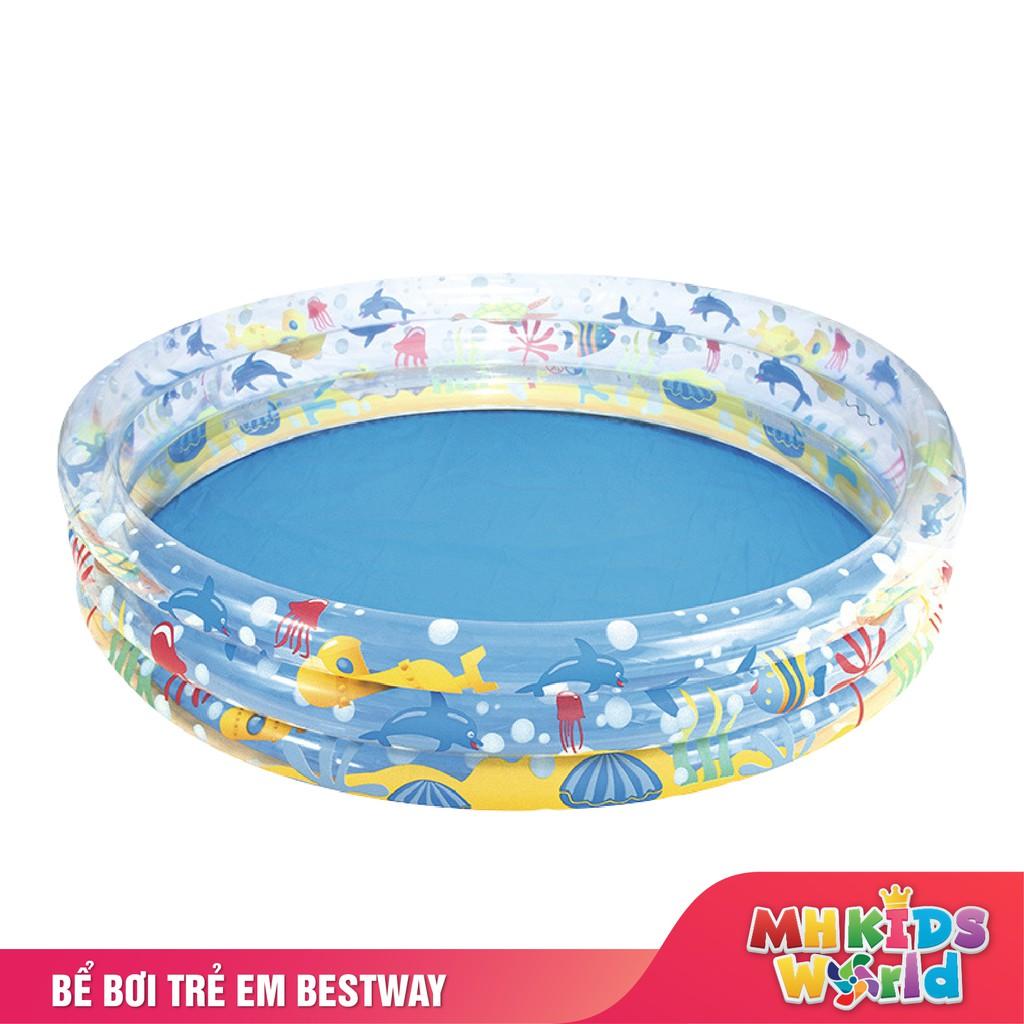 Bể bơi phao tròn Bestway cho bé kích cỡ 1m và 1m5 họa tiết dễ thương