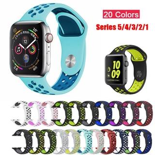 Dây Silicone Thoáng Khí Cho Đồng Hồ Apple Watch 5 4 3 2 1 42mm 38mm Iwatch 5 4 3 40mm 44mm