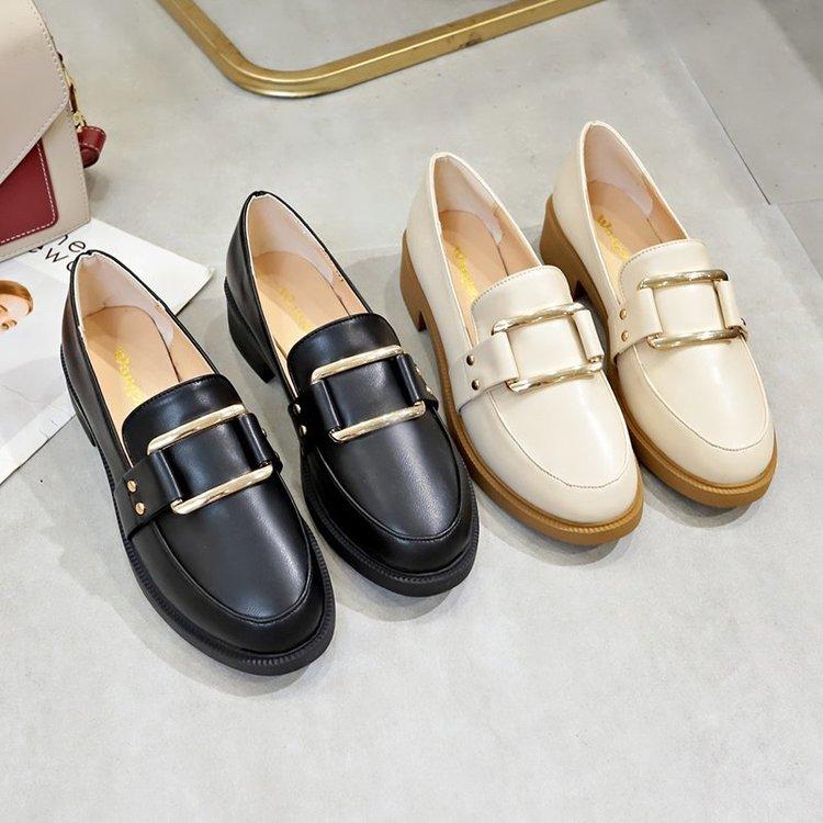 Giày Lười Màu Trơn Thiết Kế Đơn Giản Phong Cách Thanh Lịch Cho Nữ