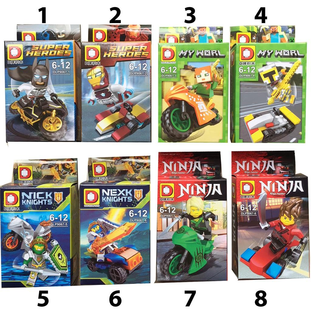 Xếp hình Lego Minifigures  (có 8 mẫu )
