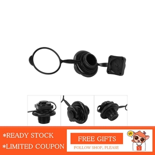 Nearbeauty 23.9mm Black Plastic Inflatable Fishing Boat Replacement Air Valve