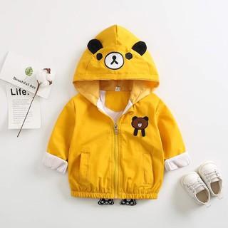 ❤️Freeship❤️ Áo khoác gió gấu cho bé trai bé gái