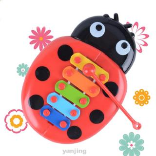 Develop Intelligence Insects Piano Portable Funny Early Education Plastic Cartoon Percussion Instrument Toy