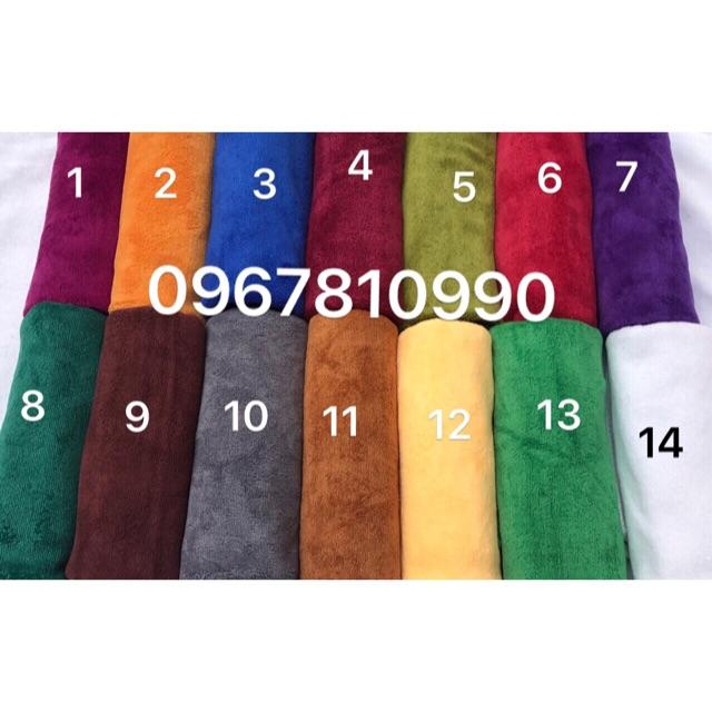 Combo 10 khăn quấn đầu và 5 khăn body tím số 7