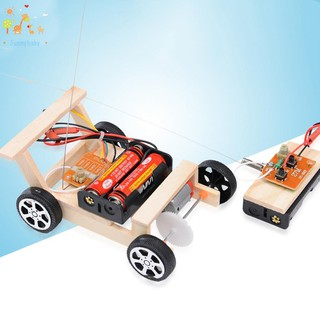 Kids Creative DIY Remote Control Vehicle Car Model Science Experiment Toys