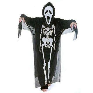Áo xương, mặt nạ, bao tay…. Hoá trang Halloween