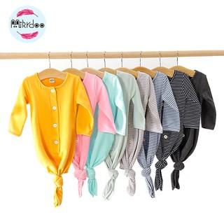 Túi Ngủ Mikrdoo Tay Dài Màu Trơn Nhiều Màu Tùy Chọn Cho Bé 0-6 Tháng Tuổi