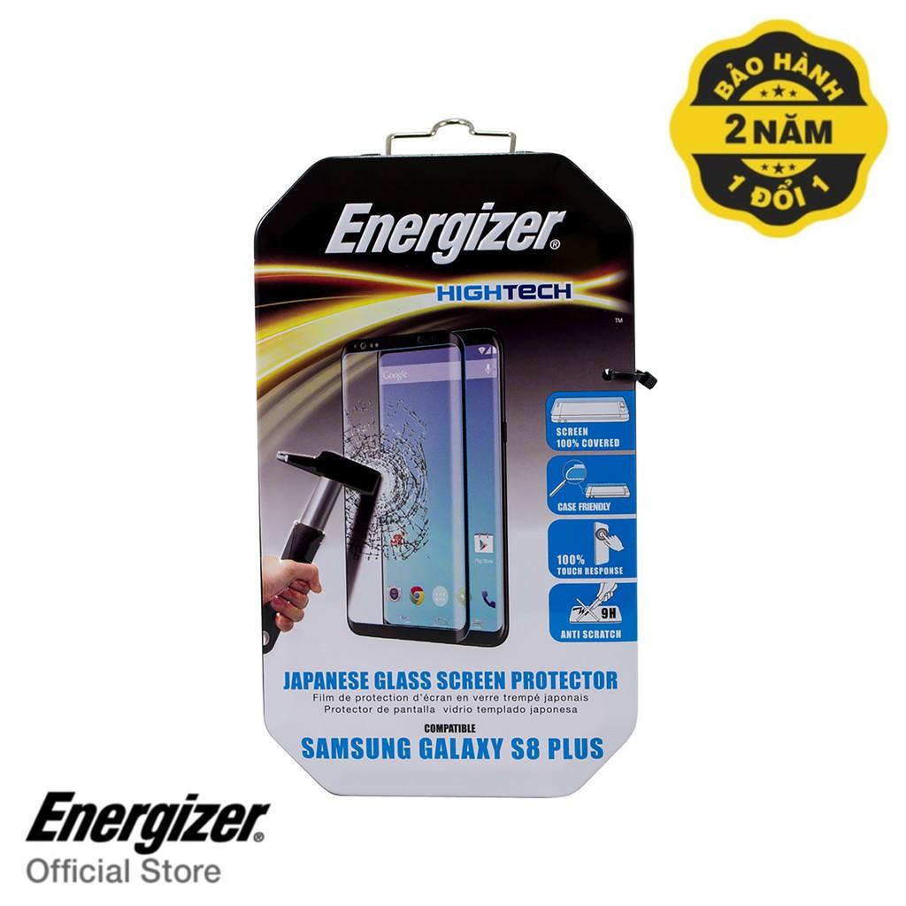 Miếng dán cường lực full viền Energizer cho Samsung Galaxy S8 Plus - ENHTTGCUS8PCF