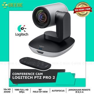 Logitech PTZ Pro 2 – Webcam Họp Trực Tuyến Chuyên Nghiệp, Siêu Zoom 10x, FullHD 1080p, Điều khiển Từ Xa
