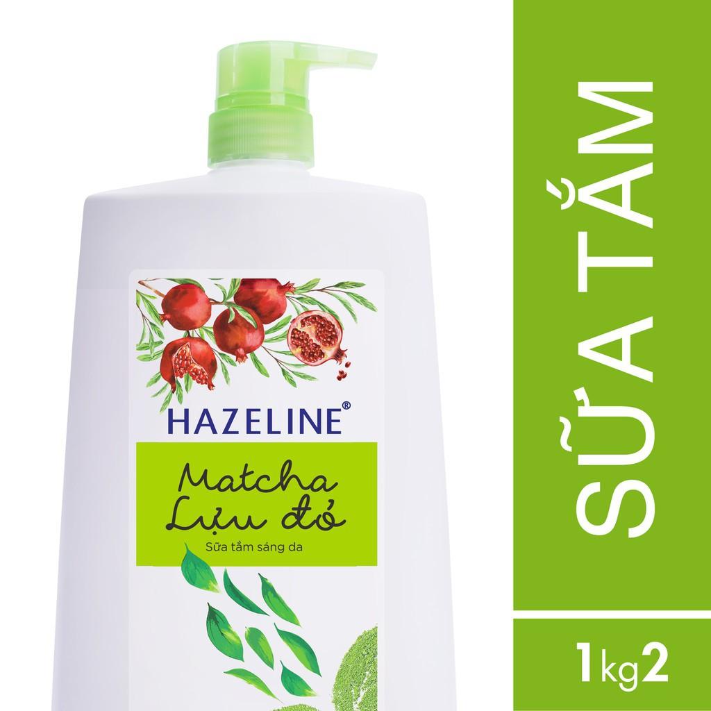 Sữa tắm dưỡng sáng da Hazeline Matcha - Lựu đỏ 1200g