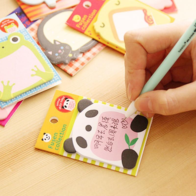 [Mã SKAMA07 giảm 8% tối đa 50K đơn 250K] Giấy note mini hình thú ngộ nghĩnh - Sticker - Ghi chú nhanh