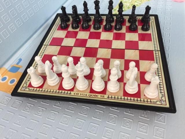 Bộ cờ vua quốc tế nam châm cỡ to và cỡ to đại