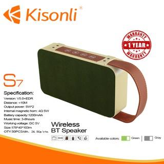 [BẢO HÀNH 12 THÁNG] _ Loa Kisonli Bluetooth S7 --- Âm thanh chuẩn, thiết kế thời thượng