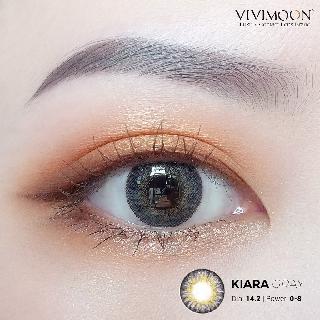Kính áp tròng Hàn Quốc VIVIMON KIARA GRAY - Lens cận xám ngọc 14.0mm