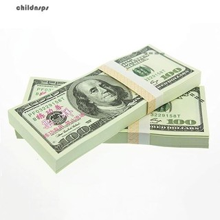 100 Pcs Toy EUR US Dollars Bank Foreign Currency Training Collect Banknotes