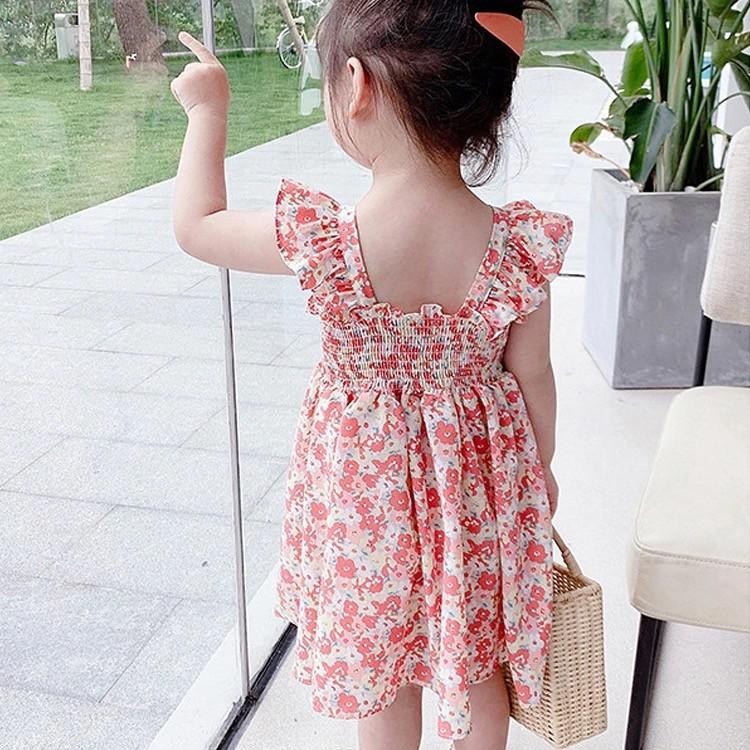 Mặc gì đẹp: Tung bay với Đầm voan hoa nhí nhiều màu cho bé gái (N00629)