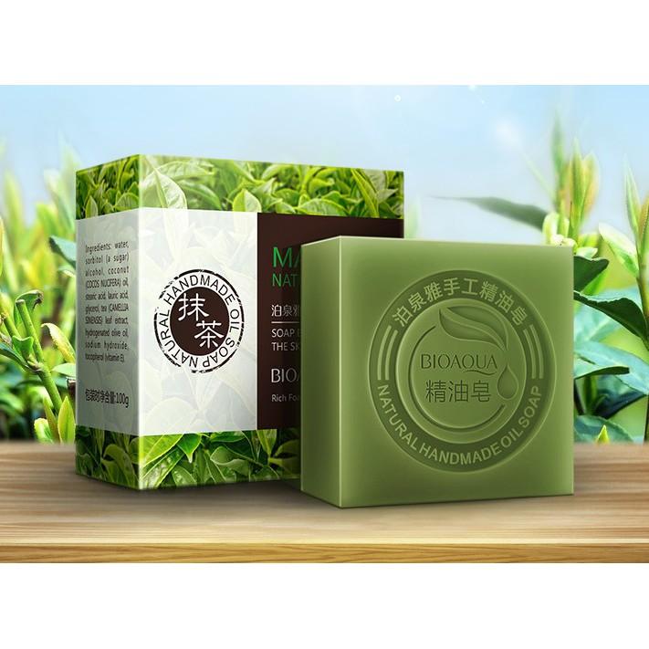 Xà phòng tắm Bioaqua chiết xuất từ lá trà xanh giúp da trắng sáng