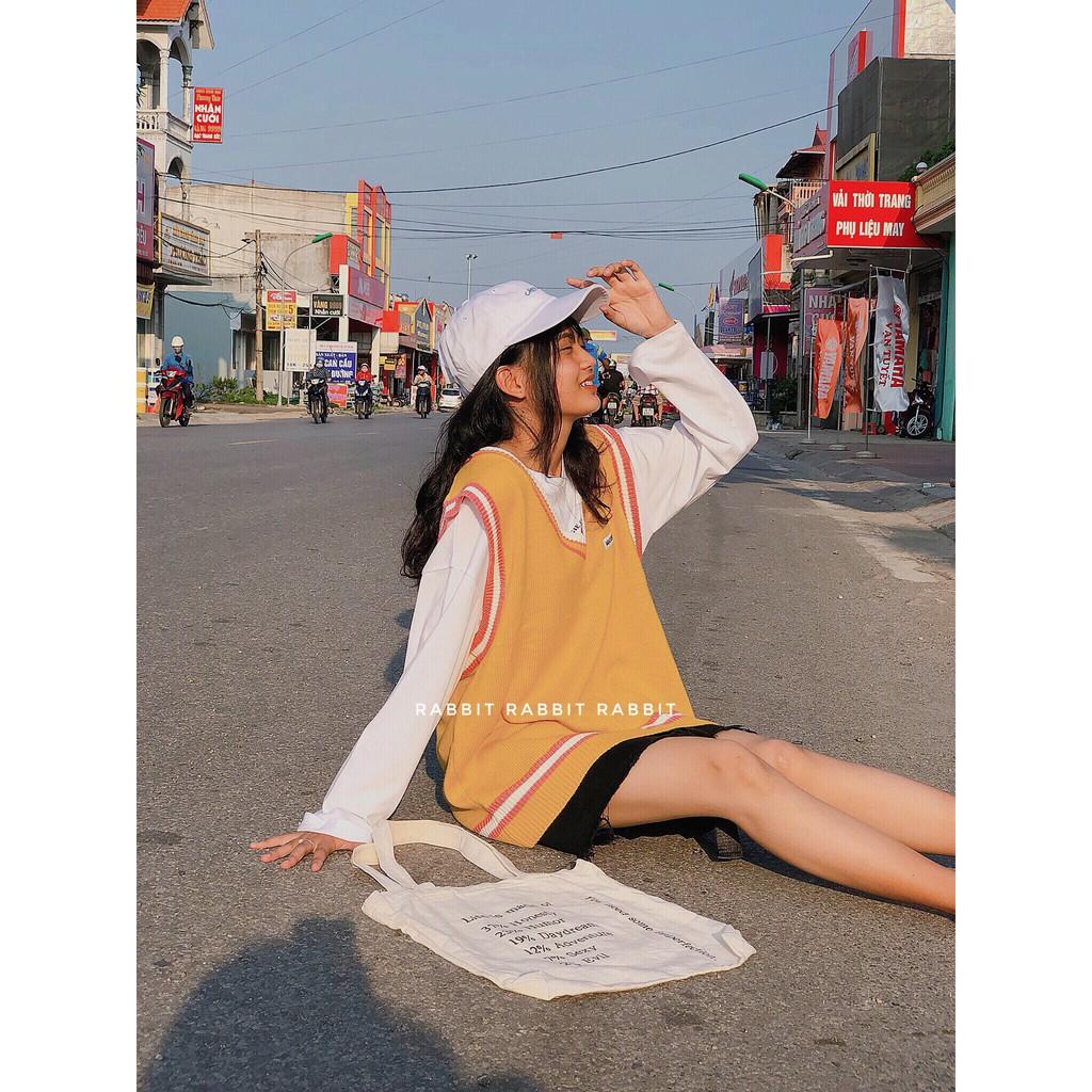 [Freeship] Áo Gile len ulzzang nữ dáng Hàn Quốc, chất len đẹp không bai xù | WebRaoVat