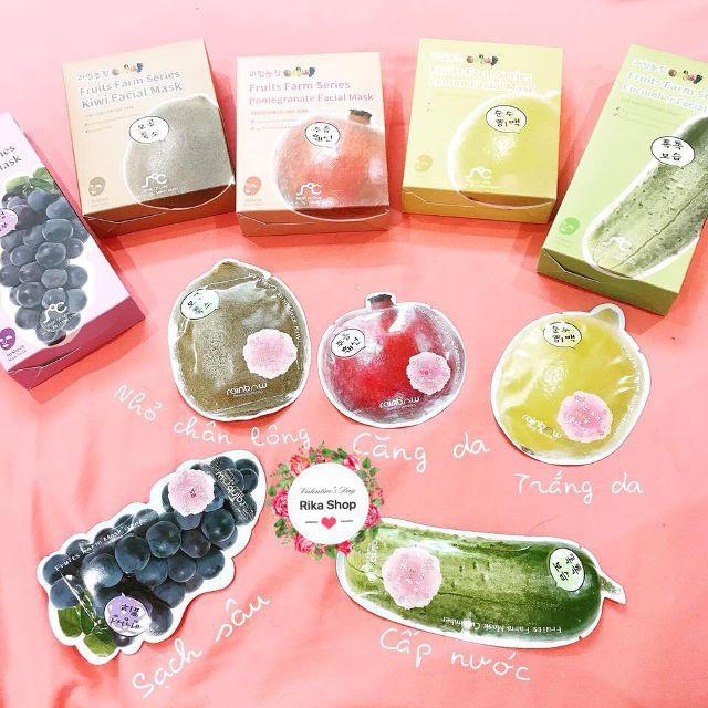 [Nguyên hộp]Mặt nạ hoa quả Rainbow Fruit Farm Mask Pack 10 miếng