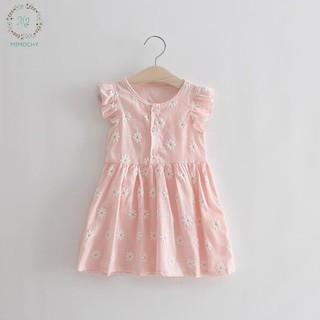 Váy hoa cúc tay bèo cho bé gái M2 MIMOCHY QC007